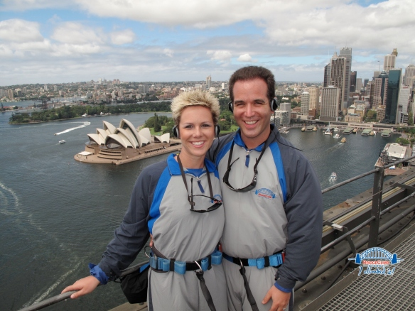 An unforgettable moment at the top of the Sydney Harbour Bridge during our bridge climb.